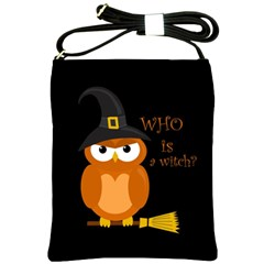 Halloween Orange Witch Owl Shoulder Sling Bags