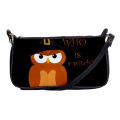 Halloween Orange Witch Owl Shoulder Clutch Bags