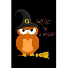 Halloween Orange Witch Owl 5 5  X 8 5  Notebooks
