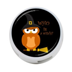 Halloween Orange Witch Owl 4 Port Usb Hub (one Side)