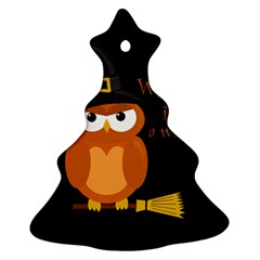 Halloween Orange Witch Owl Ornament (christmas Tree)