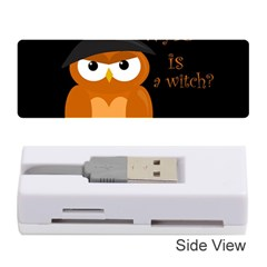 Halloween Orange Witch Owl Memory Card Reader (stick)