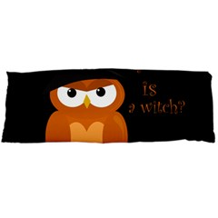 Halloween Orange Witch Owl Body Pillow Case (dakimakura)