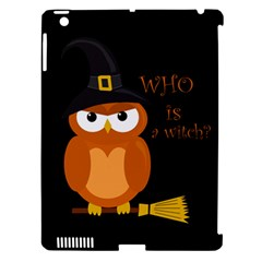 Halloween Orange Witch Owl Apple Ipad 3/4 Hardshell Case (compatible With Smart Cover)