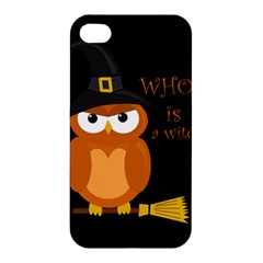 Halloween Orange Witch Owl Apple Iphone 4/4s Premium Hardshell Case