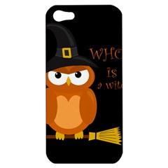 Halloween Orange Witch Owl Apple Iphone 5 Hardshell Case