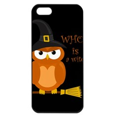 Halloween Orange Witch Owl Apple Iphone 5 Seamless Case (black)