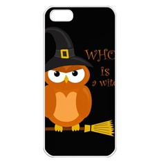 Halloween Orange Witch Owl Apple Iphone 5 Seamless Case (white)