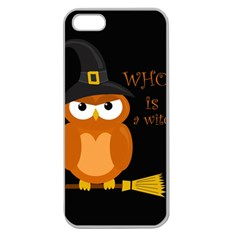 Halloween Orange Witch Owl Apple Seamless Iphone 5 Case (clear)