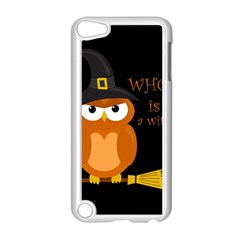 Halloween Orange Witch Owl Apple Ipod Touch 5 Case (white)