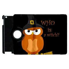 Halloween Orange Witch Owl Apple Ipad 3/4 Flip 360 Case