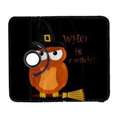 Halloween Orange Witch Owl Galaxy S3 (flip/folio)