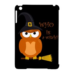 Halloween Orange Witch Owl Apple Ipad Mini Hardshell Case (compatible With Smart Cover)