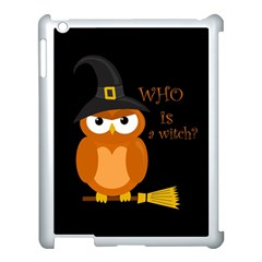 Halloween Orange Witch Owl Apple Ipad 3/4 Case (white)