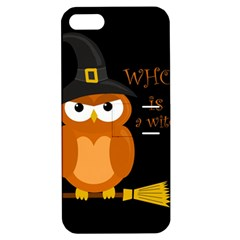 Halloween Orange Witch Owl Apple Iphone 5 Hardshell Case With Stand