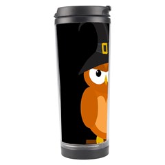 Halloween Orange Witch Owl Travel Tumbler