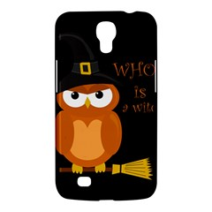 Halloween Orange Witch Owl Samsung Galaxy Mega 6 3  I9200 Hardshell Case