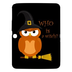 Halloween Orange Witch Owl Samsung Galaxy Tab 3 (10 1 ) P5200 Hardshell Case