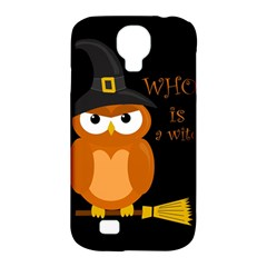 Halloween Orange Witch Owl Samsung Galaxy S4 Classic Hardshell Case (pc+silicone)
