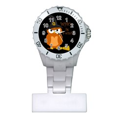Halloween Orange Witch Owl Plastic Nurses Watch