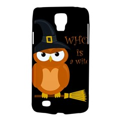 Halloween Orange Witch Owl Galaxy S4 Active