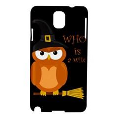Halloween Orange Witch Owl Samsung Galaxy Note 3 N9005 Hardshell Case