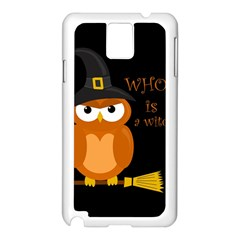 Halloween Orange Witch Owl Samsung Galaxy Note 3 N9005 Case (white)