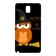 Halloween Orange Witch Owl Samsung Galaxy Note 3 N9005 Hardshell Back Case