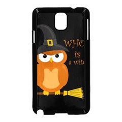 Halloween Orange Witch Owl Samsung Galaxy Note 3 Neo Hardshell Case (black)