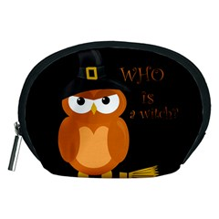 Halloween Orange Witch Owl Accessory Pouches (medium)