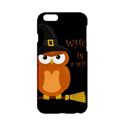 Halloween Orange Witch Owl Apple Iphone 6/6s Hardshell Case