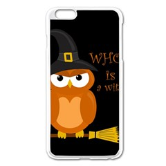 Halloween Orange Witch Owl Apple Iphone 6 Plus/6s Plus Enamel White Case