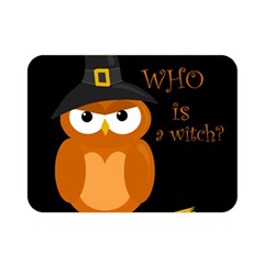 Halloween Orange Witch Owl Double Sided Flano Blanket (mini)