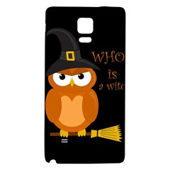 Halloween Orange Witch Owl Galaxy Note 4 Back Case