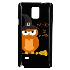 Halloween Orange Witch Owl Samsung Galaxy Note 4 Case (black)