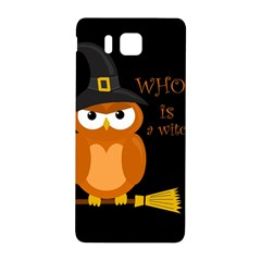 Halloween Orange Witch Owl Samsung Galaxy Alpha Hardshell Back Case
