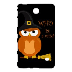 Halloween Orange Witch Owl Samsung Galaxy Tab 4 (8 ) Hardshell Case