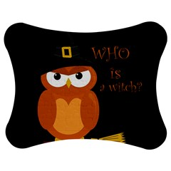 Halloween Orange Witch Owl Jigsaw Puzzle Photo Stand (bow)