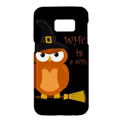 Halloween Orange Witch Owl Samsung Galaxy S7 Hardshell Case