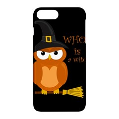 Halloween Orange Witch Owl Apple Iphone 7 Plus Hardshell Case