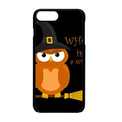 Halloween Orange Witch Owl Apple Iphone 7 Plus Seamless Case (black)