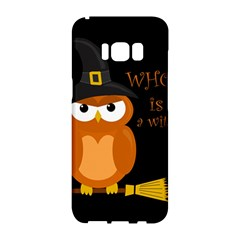 Halloween Orange Witch Owl Samsung Galaxy S8 Hardshell Case