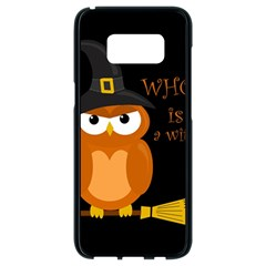 Halloween Orange Witch Owl Samsung Galaxy S8 Black Seamless Case
