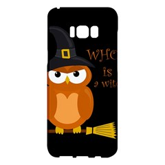 Halloween Orange Witch Owl Samsung Galaxy S8 Plus Hardshell Case