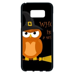 Halloween Orange Witch Owl Samsung Galaxy S8 Plus Black Seamless Case