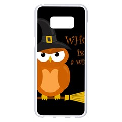 Halloween Orange Witch Owl Samsung Galaxy S8 Plus White Seamless Case