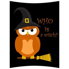 Halloween Orange Witch Owl Back Support Cushion