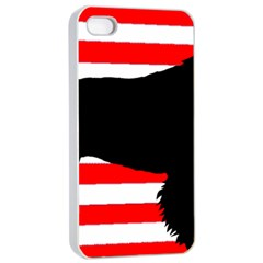 American Water Spaniel Silhouette Usa Flag Apple Iphone 4/4s Seamless Case (white)