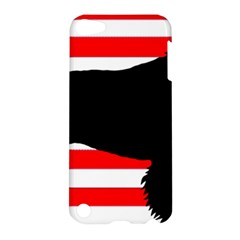 American Water Spaniel Silhouette Usa Flag Apple Ipod Touch 5 Hardshell Case