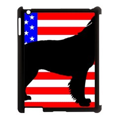 American Water Spaniel Silhouette Usa Flag Apple Ipad 3/4 Case (black)